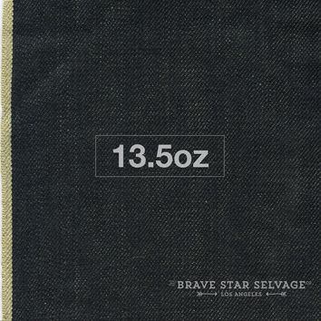 The Slim Taper 13.5oz Brown Weft Selvage
