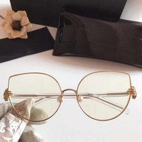 RBUDDY cat eye Clear Glasses women Hipster shand clear lens glasses transparent Metal Frame Female pink gold Fake glasses 2017