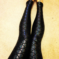Evil Mermaid nylon leggings made to order
