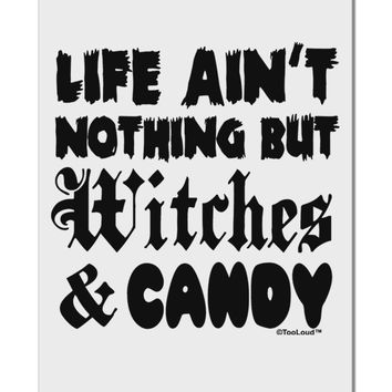 "Witches and Candy Aluminum 8 x 12"" Sign"