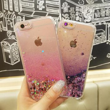 Love Heart Glitter Dynamic Liquid Quicksand Cases for iPhone 7 Case 5 5s SE 6s Plus for iPhone 6s Case 7 Plus Soft Silicon p30