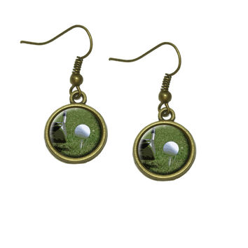 I'd Rather Be Driving a Golf Ball Dangle Drop Earrings