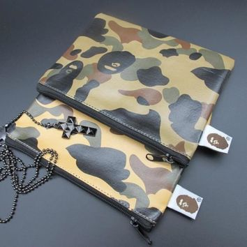 Camouflage Leather Zippers Wallet [103810465804]