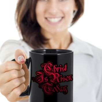 Christ Is Risen Today Christian Jesus Mug Tea Coffee Cocoa Spirituality Cups Christianity Religion Gifts Easter Holidays 2017 2018 Best Gift For Religious Christians Jesus God Mugs