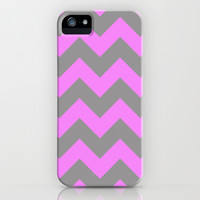 Chevron Pink iPhone & iPod Case by Alice Gosling