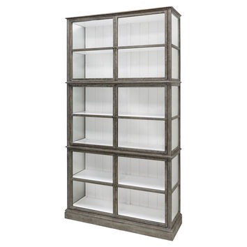 Bookcase Beatris Glass Door Curio, Bookcases & Bookshelves