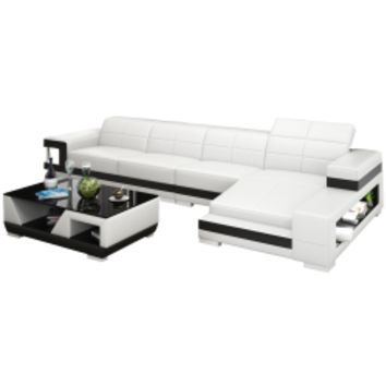 LA Mini Sectional Sofa by Scene Furniture - Opulentitems.com