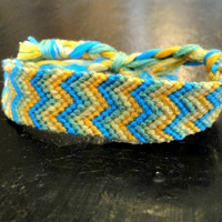 Sand In The Storm // summer double arrow stripes arrowhead beach chevron zigzag friendship bracelet