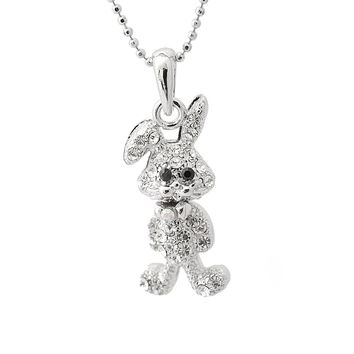 Folded Ear Standing Bunny Necklace
