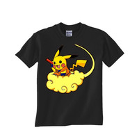 pokemon dragons pikachu dragon ball Custom Tshirt for men's , T shirt Cotton, Funny T shirt, Awesome T shirt, best design and clothing