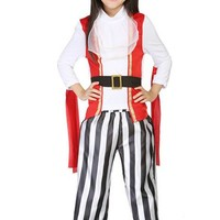 CRAZY POMELO Pirate Party Dress Costume for Kids (3-9Y)