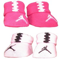Nike Jordan Infant Baby Girl's Crib Shoes Pink Booties 0-6 Month