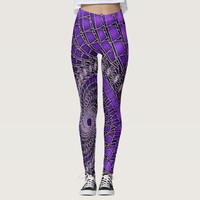 Beautiful purple fractal art, leggins leggings