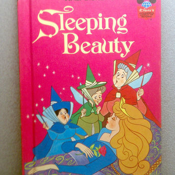 1974 Sleeping Beauty Vintage Disney Book by VintageWoods on Etsy