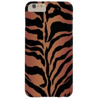 Gold Brown Tiger Animal Print iPhone 6 Plus Case