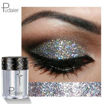 New 2018 Face Body Glitter Women Diamond Eye Shadow Kit Powder Waterproof Pigment Gold Silver pudaier Makeup Glitter Eyeshadow