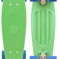 "Penny 22"" Organic Mint Green/White/Blue Mini Longboard Complete"