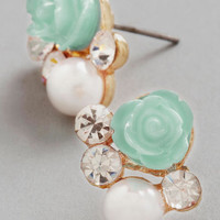 ModCloth Pastel Sashays Gone By Earrings in Mint