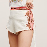 Free People Audrey Embroidered Shorts