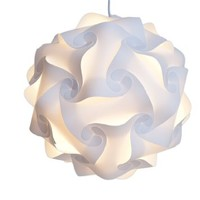 Infinity Puzzle Lights - Puzzle Lamp Shade - Modern Pendant Jigsaw Lighting (White, Medium)