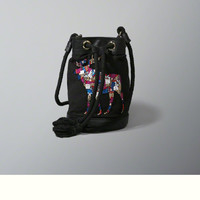 Beaded Moose Bucket Bag