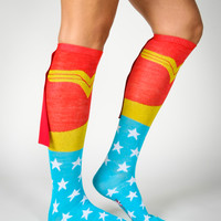 Wonderwomen Caped Knee High Socks