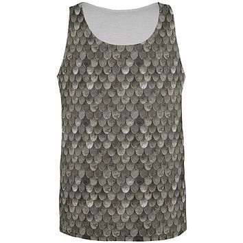 Halloween Steel Scale Armor Costume All Over Mens Tank Top