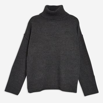Supersoft Ribbed Roll Neck Jumper | Topshop