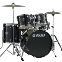 "Yamaha BLACK GLITTER; GIGMAKER 5-PC. DRUM SET WITH HW; 22"" CONFIGURATION"