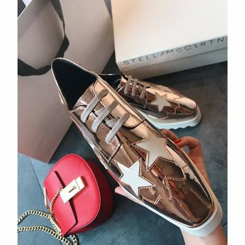 Celine STELL McC RTNEY Star Shoes Collection Classic Women's Shoes all star gold