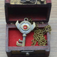 The Legend of Zelda boss key necklace pendant +chain with box
