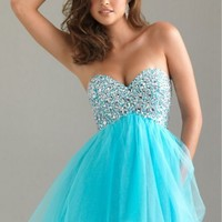2014 Blue Short/Prom/Evening/Party/Pageant/Homecoming/Cocktail Dress Custom Made