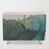 Green and Gold Credenza by duckyb