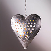 Hanging Heart Tea Light