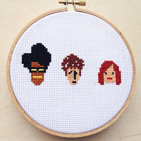 The IT Crowd Cross Stitch Hand Embroidery British Tv Show Channel 4 BBC Funny Comedy Reynholm Maurice Moss Computers Geek Nerd TV Characters