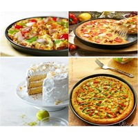 8 Inch Pizza Pan Pizza Mold Bake Pan Cake Mold Non Stick Heavy Steel Black (Size: 23.2cm by 3.8cm, Color: Black)