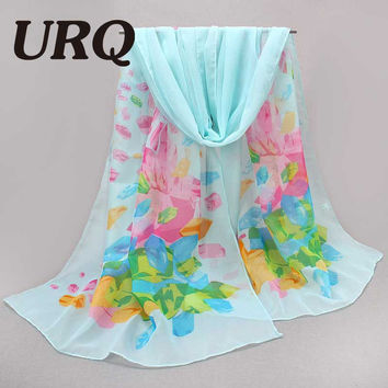 HOT 2016 New Style Korea Spring Autumn Scarf Ladies Long Scarf Chiffon Women soft Sheer Scarves Shawls Wrap P5A16335