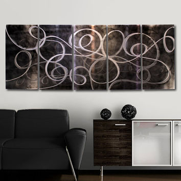 Metal Abstract Wall Painting / Black Night by statements2000