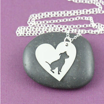 SALE 30pcs PitBull Heart Necklace   dog lover Jewelry  Custom Dog Necklace  Dog Jewelry  Personalized Memorial  Gift  Heart
