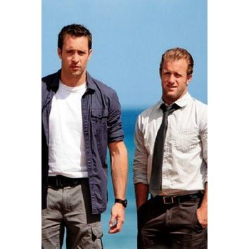 Hawaii Five-0 50 Cast poster Metal Sign Wall Art 8in x 12in