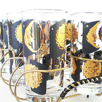 Vintage Glasses Party Barware Tumblers in Mod by vintagebiffann