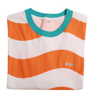 WAVY STRIPE TEE ORANGE/WHITE/MINT
