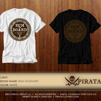 PIRATA Clothing Rum on Board Graphic T-shirt
