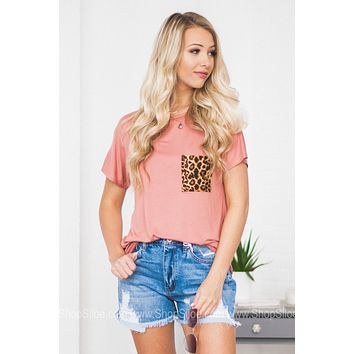 Gracie Front Leopard Pocket Top