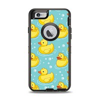 The Cute Rubber Duckees Apple iPhone 6 Otterbox Defender Case Skin Set
