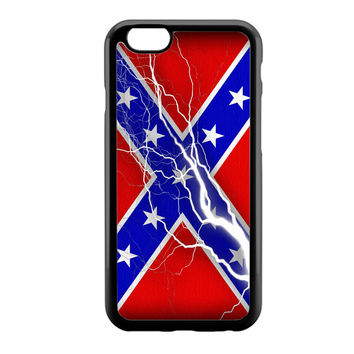 Confederate Rebel Flag Thunder iPhone 6 Case