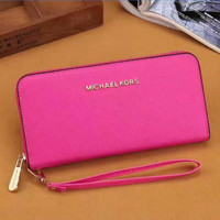 MK ZIPPER Women Leather Purse Wallet H-LLBPFSH
