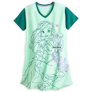 Licensed cool NEW PRINCESS ARIEL FITTED NIGHT SHIRT For WOMEN DISNEY STORE The Little Mermaid