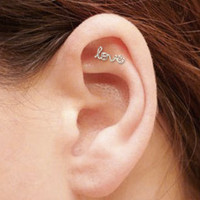 MINI Love Cartilage Earring, Sterling Silver or Gold Filled