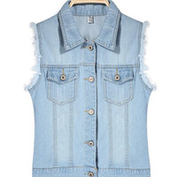 'The Lan' Denim Vest